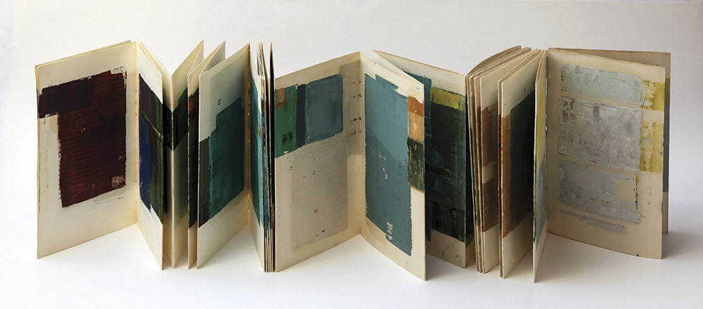 p.18-111, 21,6x14 cm, oil paint and a recycled book, unique, september 2014